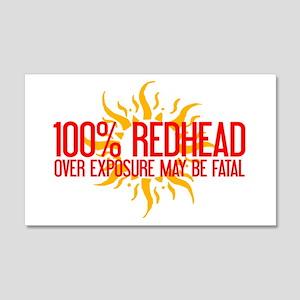 100% Redhead - Over Exposure 20x12 Wall Peel