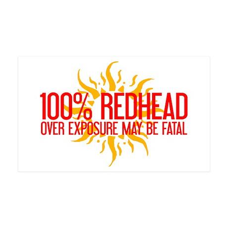 100% Redhead - Over Exposure 35x21 Wall Peel