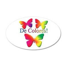 Butterfly DeColores 20x12 Oval Wall Peel
