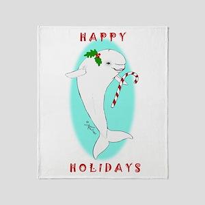 Christmas Beluga Throw Blanket
