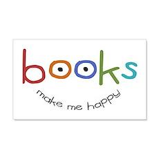 Books Make Me Happy 20x12 Wall Peel