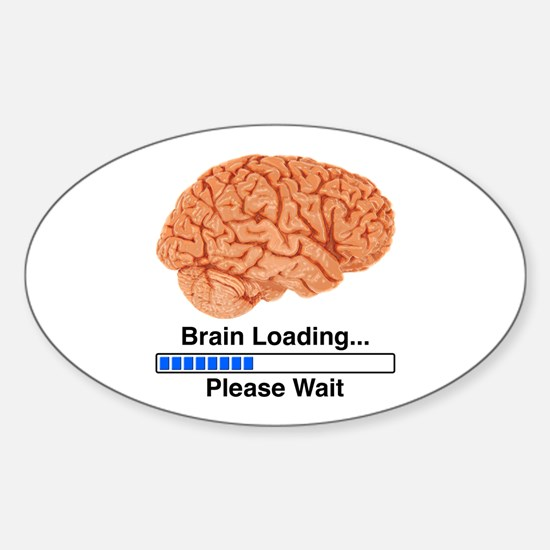 Brain Loading Sticker (Oval)