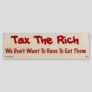Tax The Rich Sticker (Bumper)