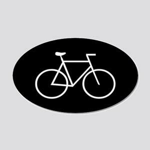 Black/White Bike 20x12 Oval Wall Peel