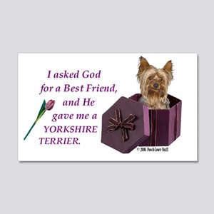Yorkshire Terrier Yorkie 20x12 Wall Peel