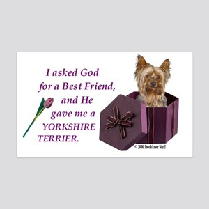 Yorkshire Terrier Yorkie 35x21 Wall Peel