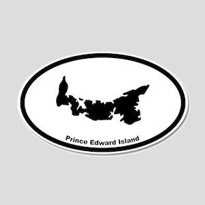 Prince Edward Island Canada Outline 20x12 Oval Wal