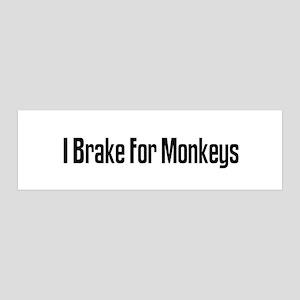 I Brake For Monkeys 36x11 Wall Peel