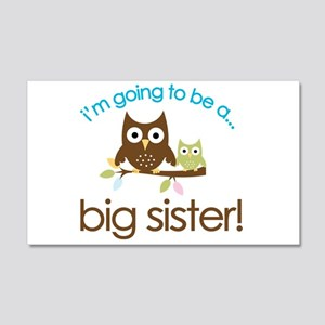 i'm going to be a big sister owl shirt Sticker (Re