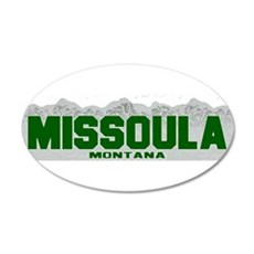 Missoula, Montana 20x12 Oval Wall Peel