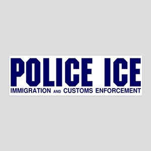 POLICE ICE 36x11 Wall Peel