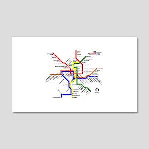 Washington Dc Metro Subway Map Anagram Wall Art Cafepress
