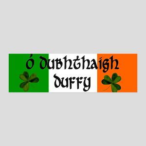 Duffy in Irish & English 36x11 Wall Peel