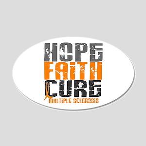 HOPE FAITH CURE MS 20x12 Oval Wall Peel