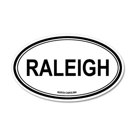 Raleigh (North Carolina) 35x21 Oval Wall Peel