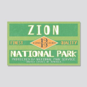 Zion National Park (Retro) 20x12 Wall Peel