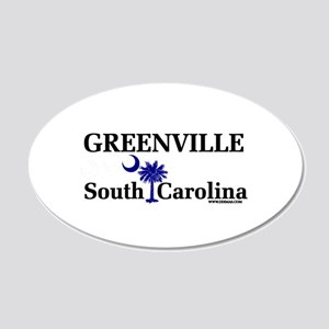 Greenville South Carolina 20x12 Oval Wall Peel