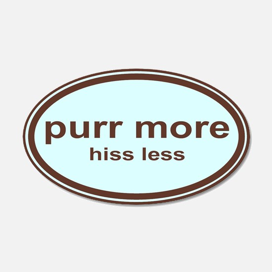 purr more... 20x12 Oval Wall Peel