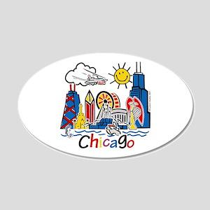 Kids CHICAGO 20x12 Oval Wall Peel