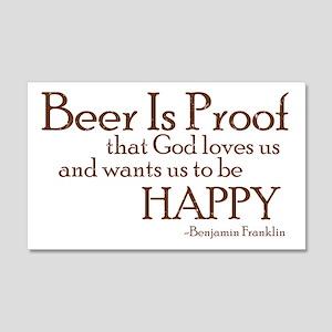 Beer Is Proof 20x12 Wall Peel