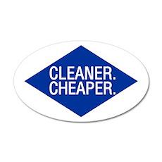 Cleaner / Cheaper 20x12 Oval Wall Peel