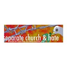 Separation of Church and Hate 36x11 Wall Peel