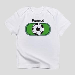 Poland Soccer Field Creeper Infant T-Shirt