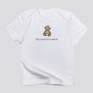 """My mom's a wonk."" Creeper Infant T-Shirt"