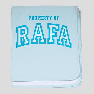 Property of Rafa baby blanket