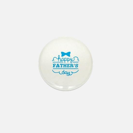 Cute Happy fathers day Mini Button