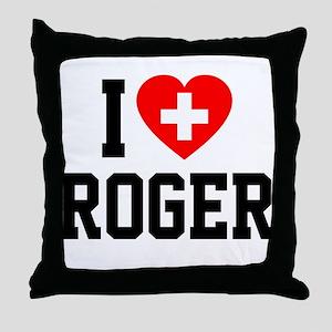 I Love Roger Throw Pillow