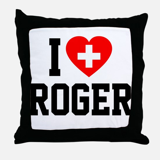 I Love Roger Throw Pillow