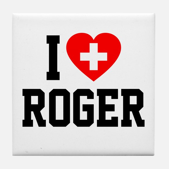 I Love Roger Tile Coaster