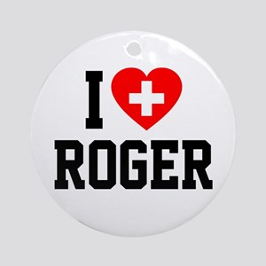 I Love Roger Ornament (Round)