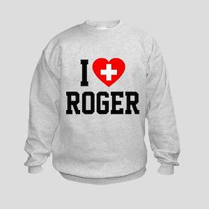I Love Roger Kids Sweatshirt