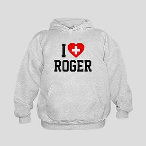 I Love Roger Kids Hoodie