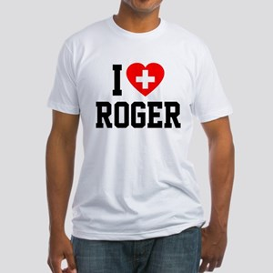 I Love Roger Fitted T-Shirt