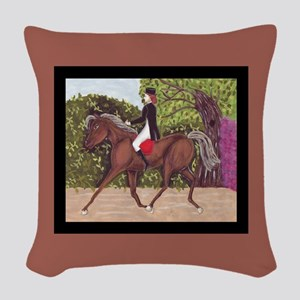 English Style Dressage Horse Riding square Woven T