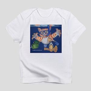 Snorkel, Snorkeling Cat Creeper Infant T-Shirt