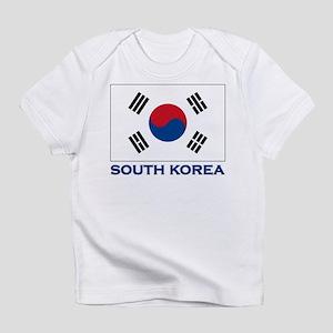 Flag of South Korea Creeper Infant T-Shirt