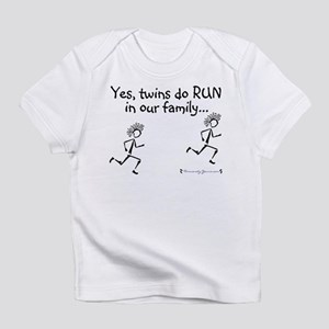 Yes, Twins do RUN in the Fami Creeper Infant T-Shi