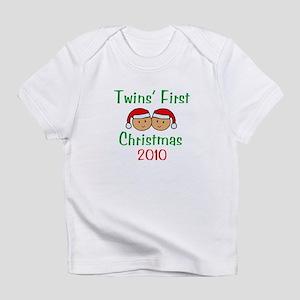 Twins First Santa Hats Infant T-Shirt