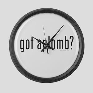 got aplomb? by DanceShirts.com Large Wall Clock