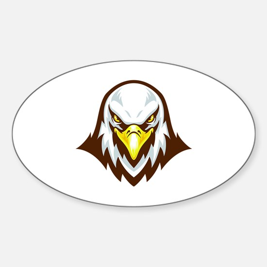 Funny Rooster head Sticker (Oval)