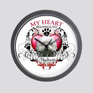 My Heart Belongs to a Maltese Wall Clock