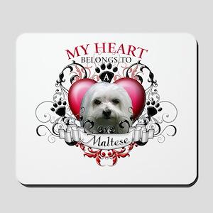 My Heart Belongs to a Maltese Mousepad