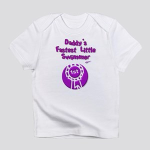 Daddy's Fastest Little Swimme Infant T-Shirt