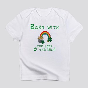 Born with the Luck O' the Irish Creeper Infant T-S