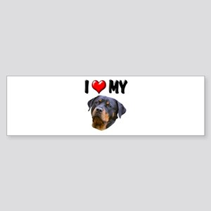 I Love My Rottweiler 2 Sticker (Bumper)