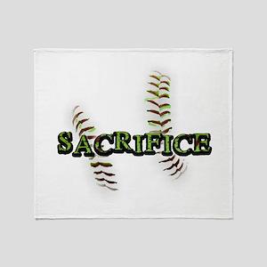 Sacrifice Fastpitch Softball Throw Blanket